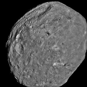 Asteroid Vesta as imaged by the Dawn spacecraft. NASA